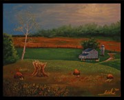 Amish Buggy Paintings - Modesty by Eric Scott Hayes