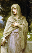 Shroud Digital Art - Modesty by William Bouguereau