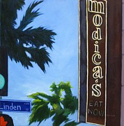 Long Street Painting Posters - Modicas Poster by Katrina West