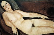 Modigliani; Amedeo (1884-1920) Framed Prints - Modigliani, Amedeo 1884-1920. Nude Framed Print by Everett