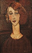 Modigliani; Amedeo (1884-1920) Framed Prints - Modigliani, Amedeo 1884-1920. Renée Framed Print by Everett