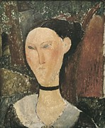 Modigliani; Amedeo (1884-1920) Framed Prints - Modigliani, Amedeo 1884-1920. Woman Framed Print by Everett