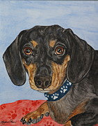 Dog Paw Paintings - Moe by Megan Cohen