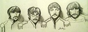 The Beatles John Lennon Drawings - Moes Favorite by Michele Moore