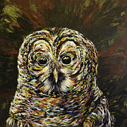 Lovejoy Posters - Mogley the Owl Poster by Lovejoy Creations