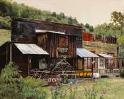 Wheels Painting Prints - Mogollon-Theatre-New Mexico  Print by Guido Borelli