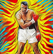 Sports Art Digital Art Originals - Mohamed Ali by Glenn Cotler