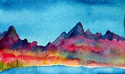 Colorado River Paintings - Mohave Mountains by Anne Duke