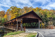 Mohican Posters - Mohican Covered Bridge Poster by Dale Kincaid