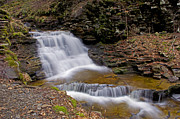Mohican Prints - Mohican Falls in Spring Print by Shelly Gunderson