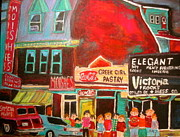 Litvack Paintings - Moishes Steak House 1960s Montreal Memories by Michael Litvack