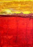 Printmaking Prints - Mojave Dawn original painting Print by Sol Luckman
