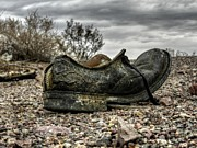 Shoe Prints - Mojave HDR 007 Print by Lance Vaughn