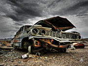 Junked Framed Prints - Mojave HDR 012 Framed Print by Lance Vaughn