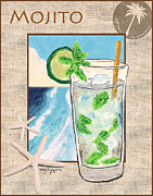 Alcohol Pastels Prints - Mojito Print by William Depaula