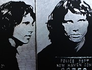 Jim Morrison Drawings Prints - Mojo Mugshot Print by Jeremy Moore