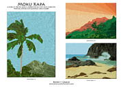 Tropical Mixed Media - Moku Kapa Poster by Kenneth Grzesik