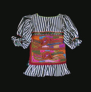 Reverse Art Framed Prints - MOLA Blouse for a Child Framed Print by Sherry Thorup