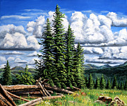 San Juan Paintings - Molas Pass Area by Timithy L Gordon