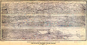 Old Map Paintings - Molitors Map of the Mississippi 1884 by MotionAge Art and Design - Ahmet Asar