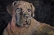 Boxer Mixed Media Originals - Molly 2 by Vincent von Frese