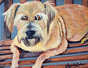 Lazy Dog Paintings - Molly by Amanda Ladner