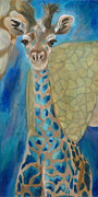 Giraffes Paintings - Molly by Lynn Rattray