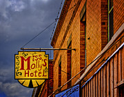 Stockyards Prints - Mollys Hotel Print by David and Carol Kelly