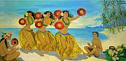 Murals Prints - Molokai Hula 2 Print by James Temple
