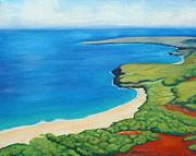 Iron Oxide Paintings - Molokai by Kristine Mueller Griffith
