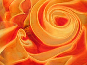 Fall Glass Art Posters - Molten Poster by Jubilant Glass And Art
