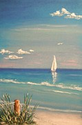 Gulf Pastels Posters - Moment By Moment Poster by The Beach  Dreamer