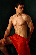Hot Male Prints - Moment Like This  Print by Mark Ashkenazi