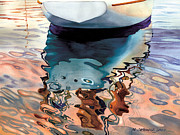 Top Seller Paintings - Moment of Reflection VIIa by Marguerite Chadwick-Juner