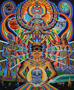 Trippy Painting Originals - Moment of Truth by Chris Dyer