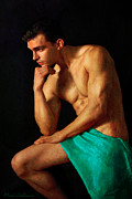 Hot Male Prints - Momento Clasico Print by Mark Ashkenazi