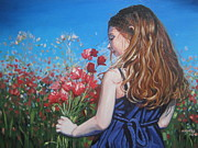 Poppies Field Painting Originals - Moments Without Time by Andrei Attila Mezei