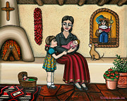 Chile Paintings - Momma Do You Love Me? by Victoria De Almeida