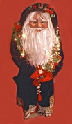 Christmas Sculptures - Moms Santa by Linda Simon
