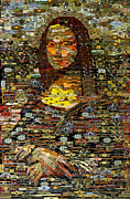 Cigar Mixed Media Prints - Mona Lisa Print by Alexander Gashunin