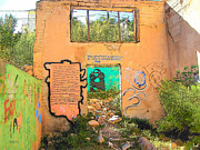 Arizonia Photos - Mona Lisa in the Wall Bisbee AZ by Rebecca Korpita