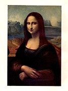 1 Framed Prints - Mona Lisa  Framed Print by Leonardo da Vinci