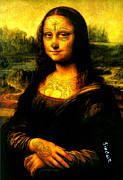 Souls Framed Prints - Mona Lisa Tattooed Framed Print by Nick Sinclair