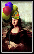 Da Vinci Mixed Media - Mona Lisa the Birthday Girl by Gravityx Designs