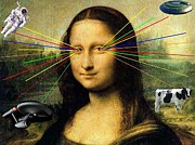 Enterprise Digital Art Prints - Mona Lisa with Lasers Print by Paul Dreisbach
