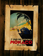Motor Racing Posters - Monaco 1933 Poster by Mark Rogan