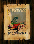 Motor Racing Prints - Monaco 1934 Print by Mark Rogan