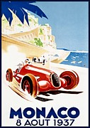Motorsport Drawings - Monaco - 1937 by Reproduction