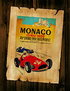 Motor Racing Posters - Monaco 1956 Poster by Mark Rogan