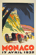City Streets Digital Art Prints - Monaco Grand Prix 1932 Print by Nomad Art And  Design